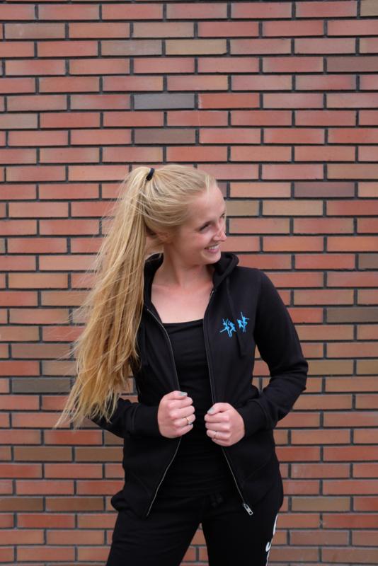 SOOF'IT BUDGET hoodie Zwart met rits voor volwassenen (087-0058)