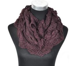 Dames sjaal/col - Bruin