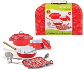 Kookset in koffer Simply for Kids - rood