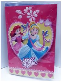 Disney Princessen 3D verjaardagskaart met envelop