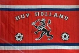 Vlag Holland leeuw en voetballen: 50x70 cm