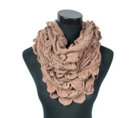 Dames col /sjaal - Beige