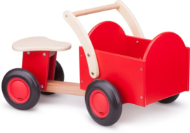 New Classic Toys Bakfiets Road Star - Blank/Rood