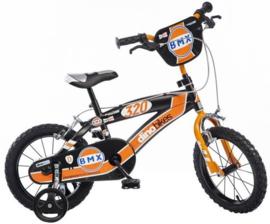 Dino BMX Kinderfiets 16 inch - Black Orange