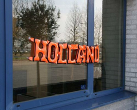 Oranje Opblaas Tekst Holland - 160 cm