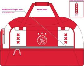 Sporttas met schoenenvak Ajax wit/rood/wit - xxx