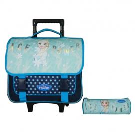 Disney luxe schooltas met etui Frozen - 38 x 14 x 33 cm