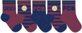 FC Barcelona Baby sokjes in cadeaudoos - 5 paar 3/5 maanden