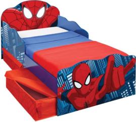 Peuterbed Spiderman met lades - 142x77x64 cm