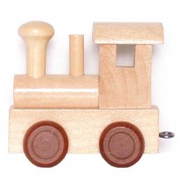 Houten Locomotief voor lettertrein