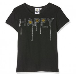 Smiley t-shirt zwart