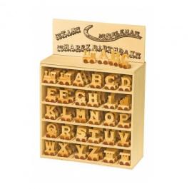 Houten lettertrein letters