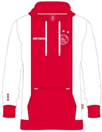 Ajax Hooded Sweater Wit Rood - Senior