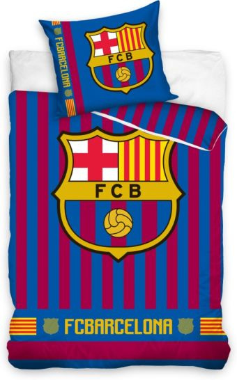 FC Barcelona Dekbedovertrek Stripes - 140x200 cm