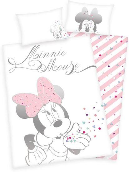 Disney Minnie Mouse Dekbedovertrek Confetti - 100x135 cm