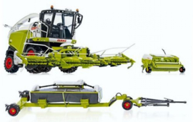Claas Jaguar 860 met orbis750 en Pickup + Claas Direct Disc 520