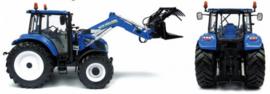 New Holland T5.115 tractor met 740TL voorlader UH4274 Schaal 1:32