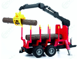 Tree transport wagon with grab and trees BRU02252 Bruder.