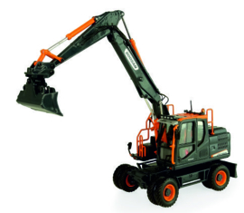 Doosan DX160W mobiele kraan Black Edition  UH8138 1:50