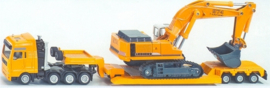 Heavy transport with 'Flat-Bed Trailer' with crawler crane Si1847 Scale 1:87