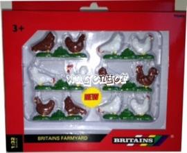 Scharrel kippen 6x2  BR42812  Britains Schaal 1:32