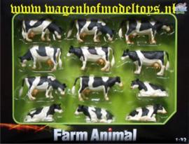 12 black and white cows - KG571929 - Kids Globe Scale 1:32