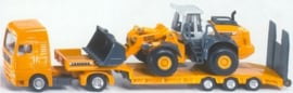Low loader with liebherr shovel Si1839 Scale 1:87