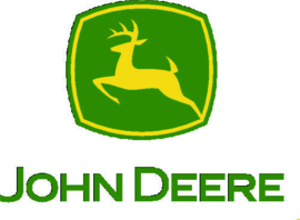 John Deere logo met ingetrokken pootjes JD002. +/- 35X50 cm