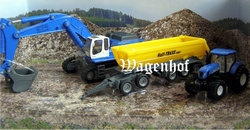 Set Liebherr Crane and NH with trailer Scale 1:87
