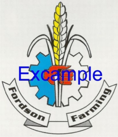 Fordson Farming logo op vlag van +/- 35X50 cm.