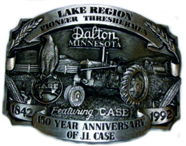 CASE 150 YEAR ANNIVERSARY OF J.L.CASE Riem Gesp Buckle Co 189 of 250 (1992).