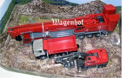 Set of Liebherr telescopic crane, mobile crane and truck Scale 1:87
