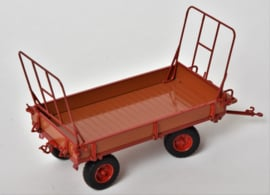 Miedema Agricultural trailer in lacquered wood with Red MMPLM7602
