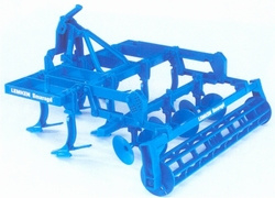 Lemken emerald cultivator with discs, depth roller Bruder BRU02235 Scale 1:16