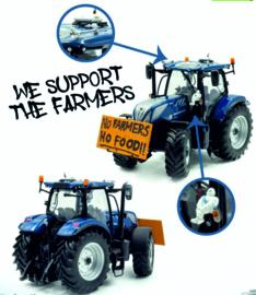 New Holland T7.225 Blue Power NO FARMERS NO FOOD UH6352 1:32.
