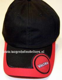 Valtra cap zwart/rood met zwarte sandwich rand