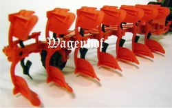 Vogel and Noot 7 scissors semi-mounted reversible plow Contröle Scale 1:32