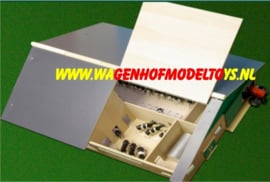 Ligboxenstal met melklokaal - Kids Globe  KG610495 Schaal 1:32