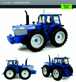 Ford County 1474 tractor UH4032  Universal hobbies Schaal 1:32