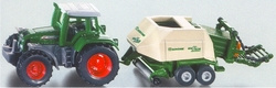 Tractor with large baler