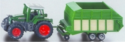 Tractor with loader wagon