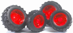 Red wheels for 02000 series tractors. Bruder BRU02013 Scale 1:16