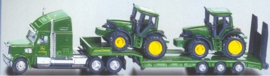 Low loader with John Deere tractors Si1837 Scale 1:87