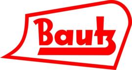 Bautz logo op vlag +/- 35/50 cm.