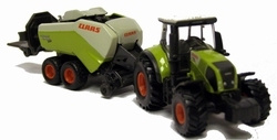 Claas Axion with large baler Scale 1:87