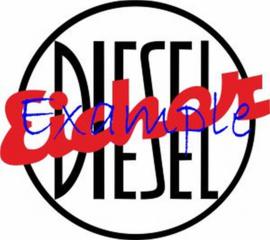Eicher Diesel Logo op vlag +/-35X50 cm.