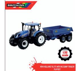 New Holland T6.175 met NC Tilt Dumper trailer Set BR43268 1:32.