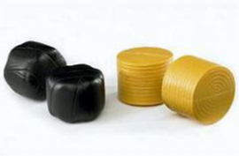 Black and Yellow bales. 4 pieces. Bruder BRU02345 Scale 1:16