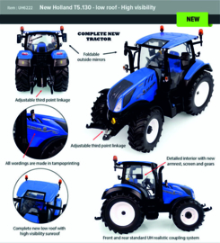 New Holland T5.130 low roof high visibility UH6222.