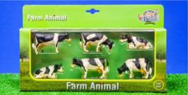6 black-and-white cows. Kids Globe. KG570009 Scale 1:32